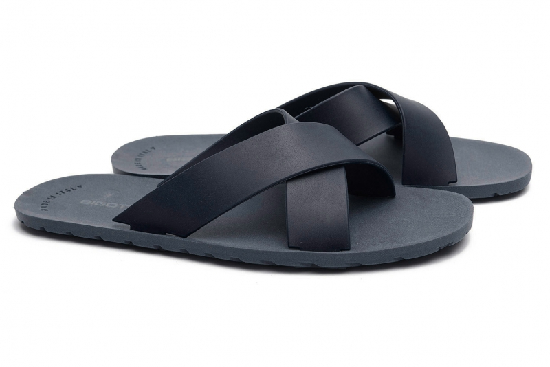 Navy Pvc Flip-flops