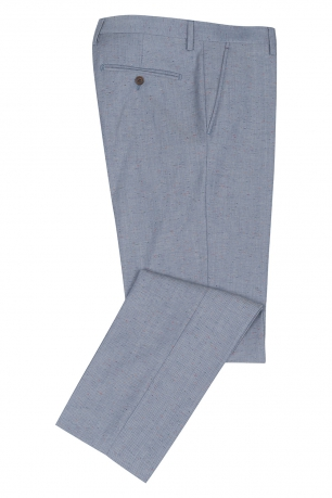 Slim Light blue Geometric Trouser