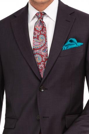 Slim Brown Plain Suit