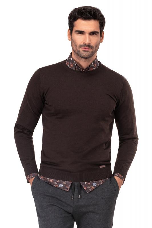 Slim Brown Sweater