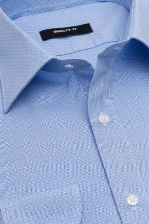 Superslim Light blue Check Shirt