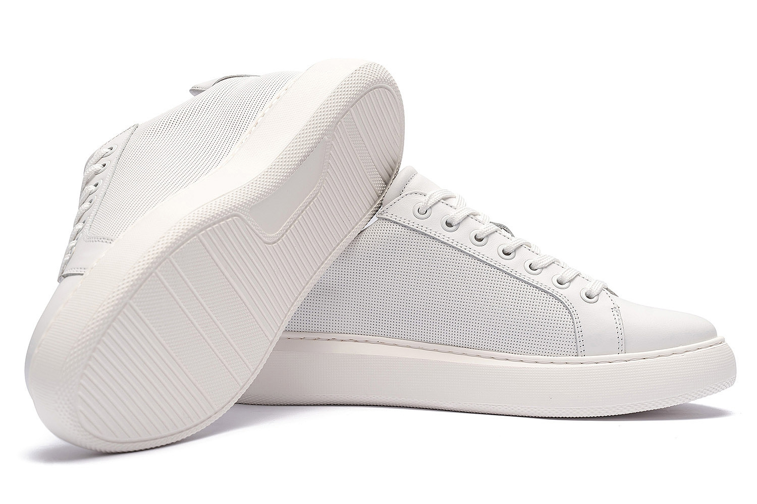 White Genuine leather Shoes 1