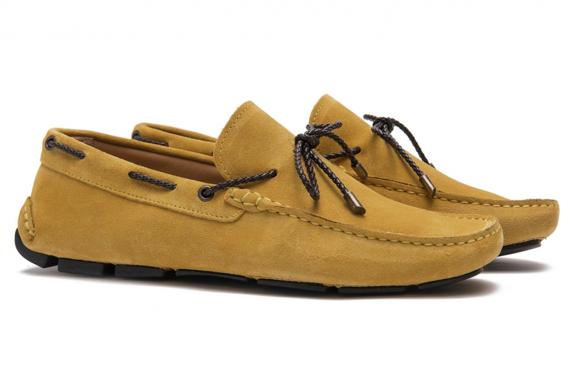 Yellow Suede leather Shoes