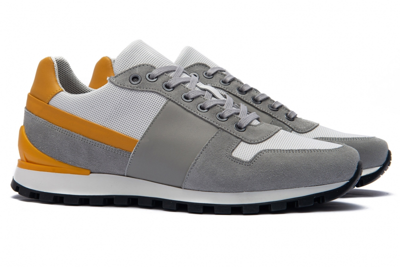 Grey Matt suede leather Shoes