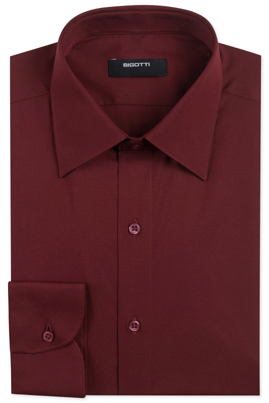 Superslim Burgundy Plain Shirt