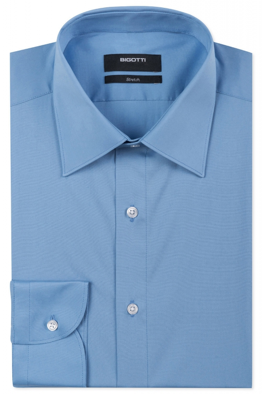 Superslim Light blue Plain Shirt