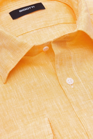 Slim body Yellow Plain Shirt