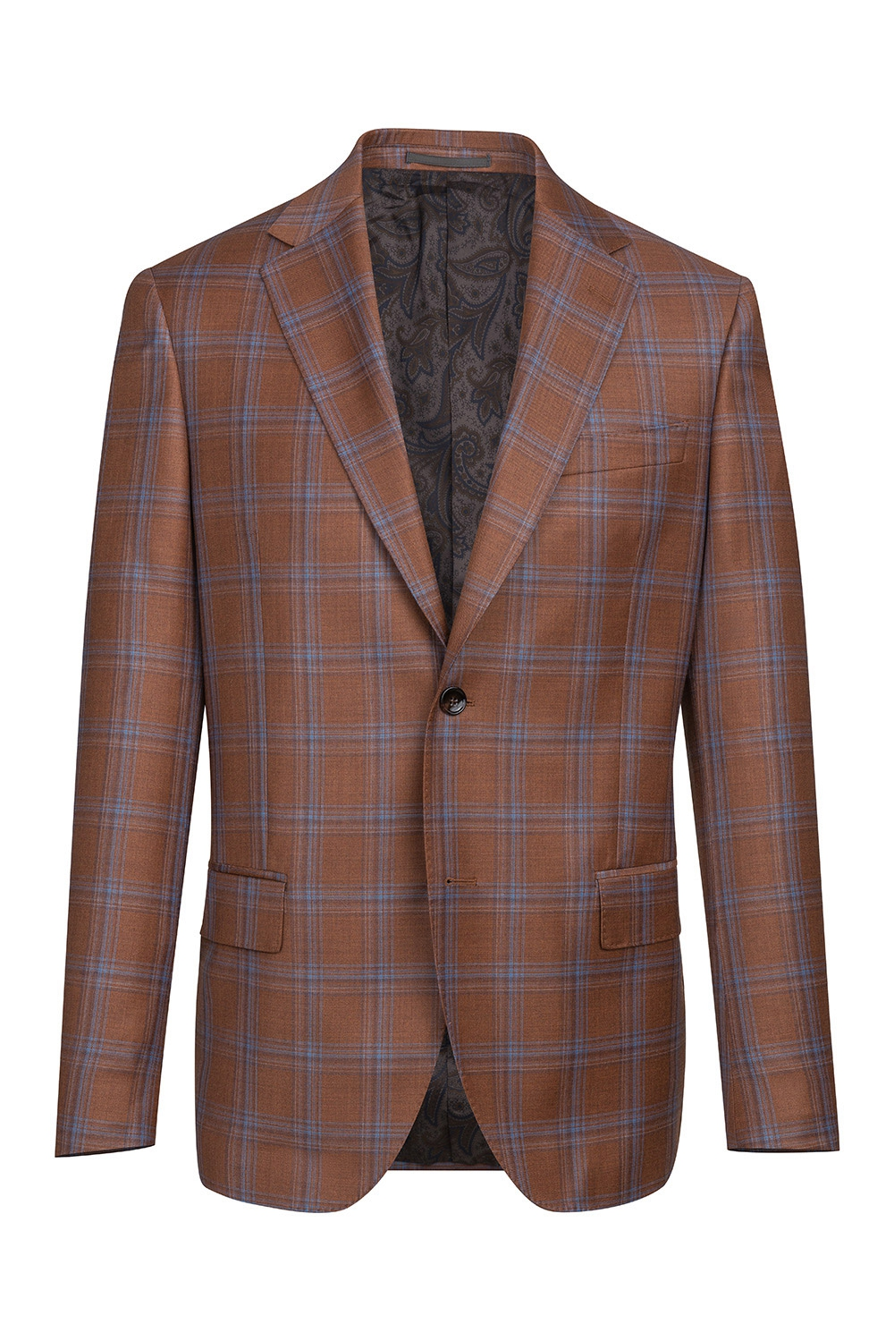 Orange Check Blazer 3