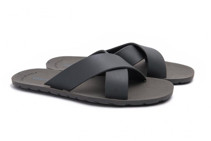 Grey Polyester Flip-flops