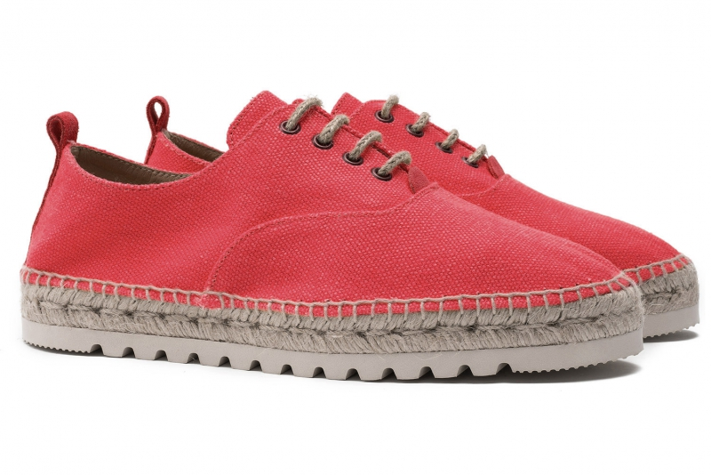 Red Cotton and linen Shoes