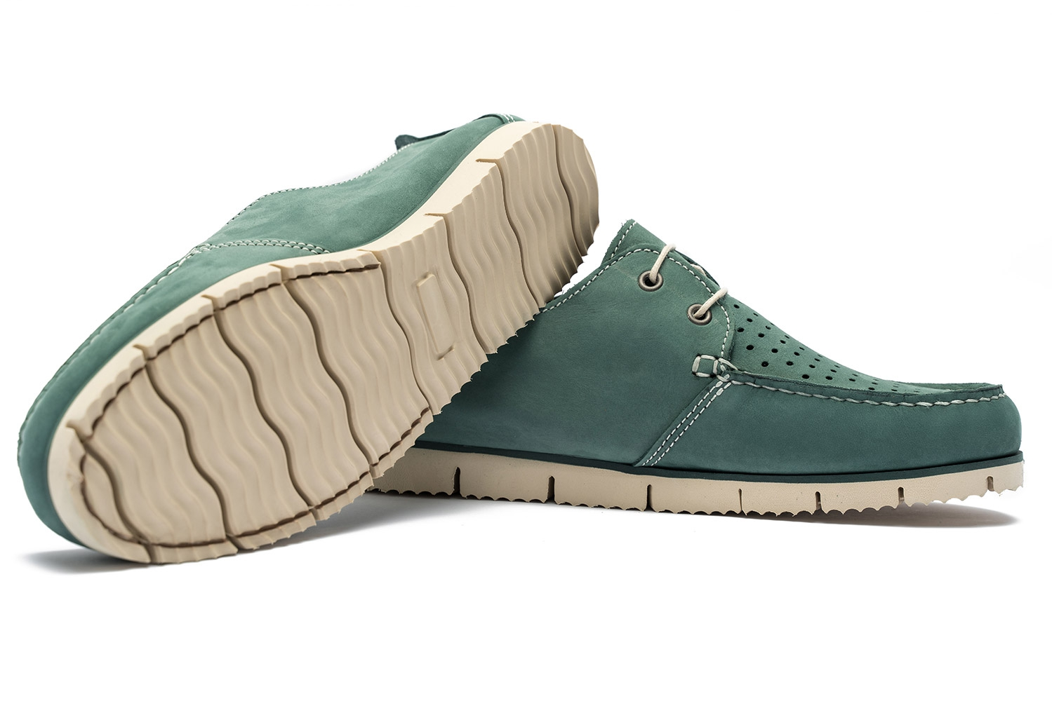 Green Nubuck leather Shoes 1