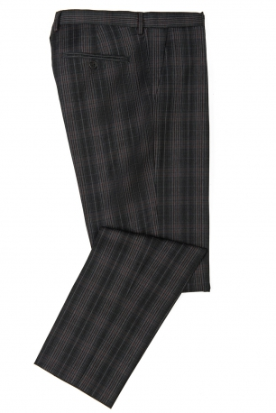 Slim Grey Check Trouser