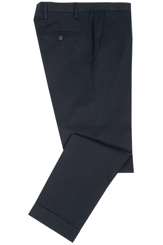Slim Navy Plain Trouser