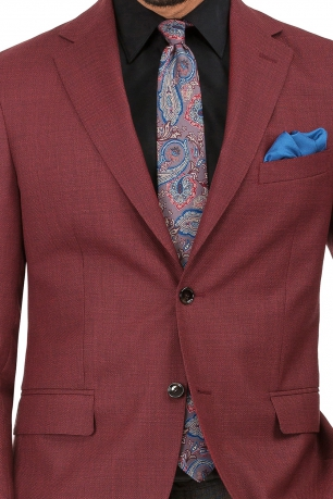 Burgundy Plain Blazer