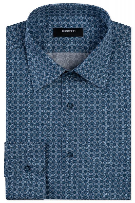 Slim body Blue Floral Shirt