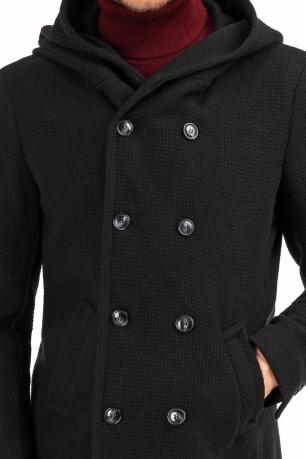 Black Plain Coat
