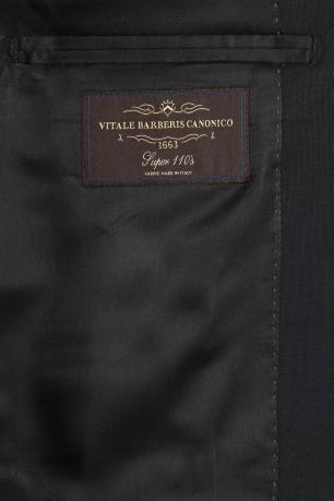 Regular Black Plain Suit