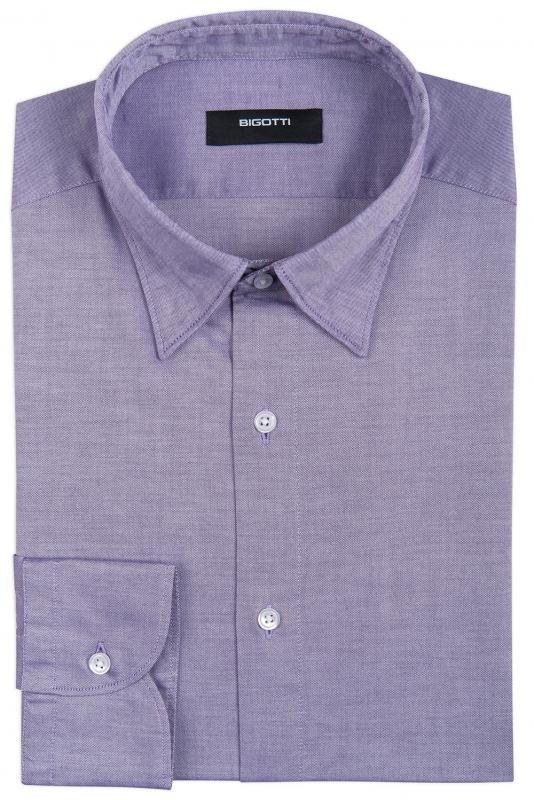 Slim Purple Oxford Shirt