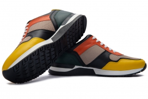 Multi-colored Leather and textile Shoes