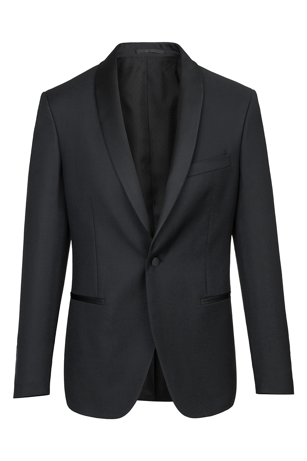 Black Plain Blazer 0