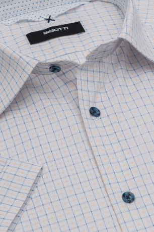 Superslim White Check Shirt