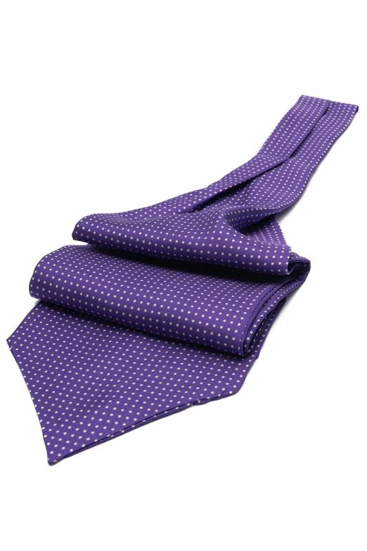 Purple Geometric Ascot tie
