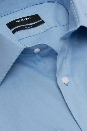 Slim Light blue Plain Shirt