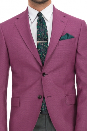 Slim Purple Plain Blazer