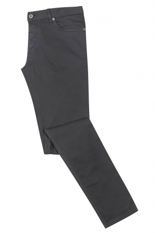 Slim Grey Plain Trouser
