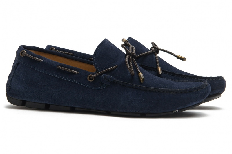 Navy Suede leather Shoes