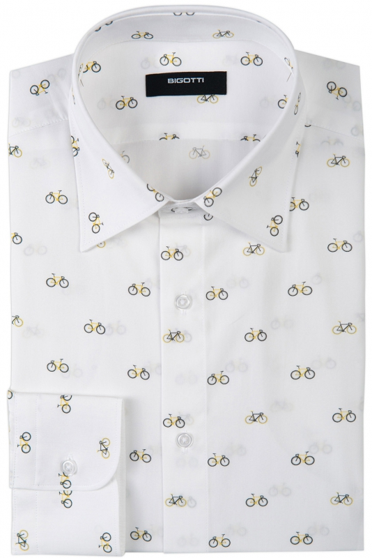 White Geometric Shirt