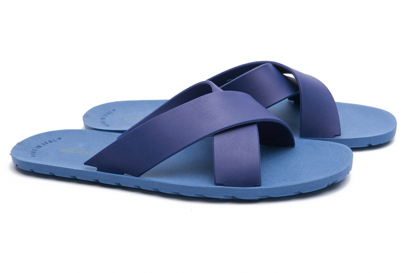 Blue Polyester Shoes