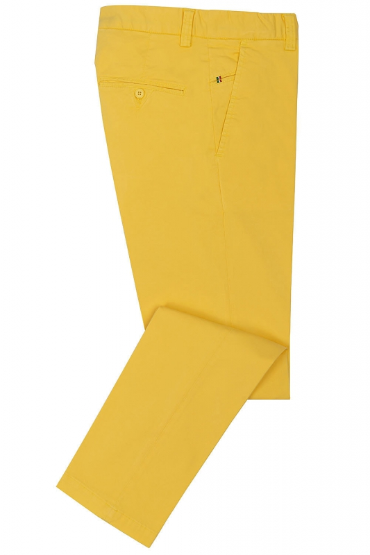 Slim Yellow Plain Trouser
