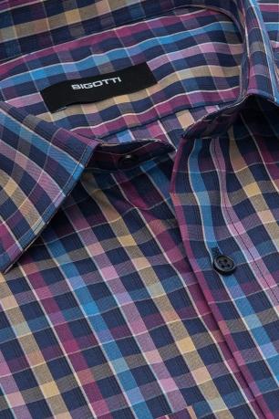 Slim Multi-colored Check Shirt