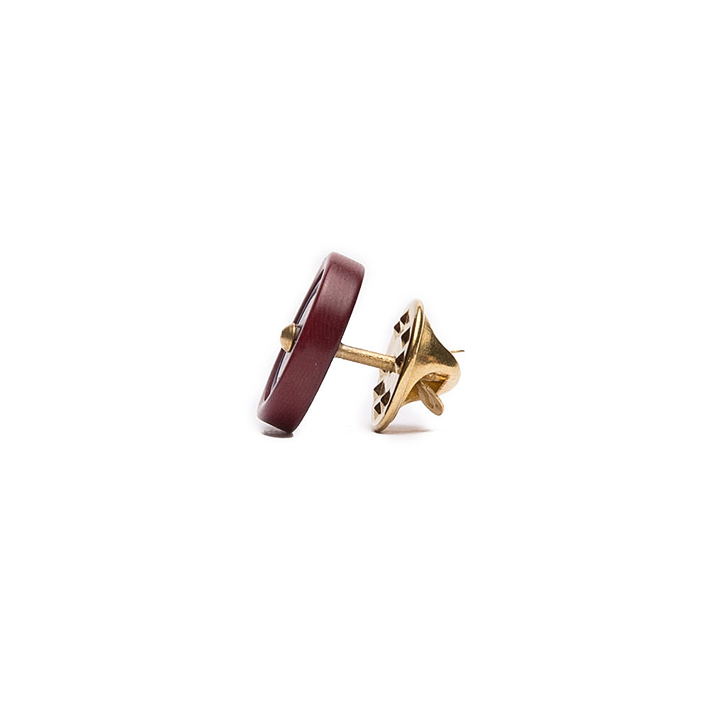 Burgundy Lapel pin 2