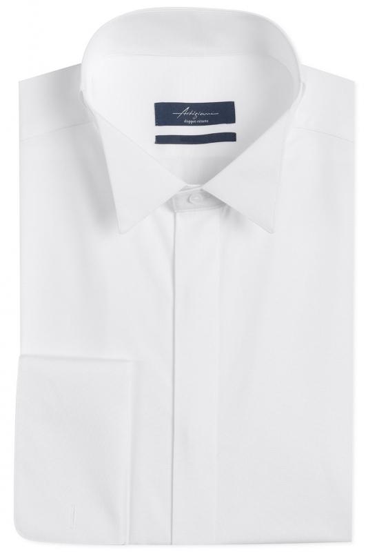 Slim White Plain Shirt