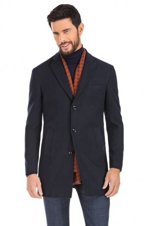 Navy Plain Coat