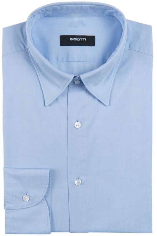 Shaped Light blue Oxford Shirt