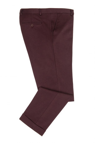 Burgundy Plain Trouser