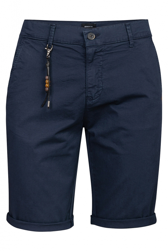 Slim body Navy Geometric Trouser