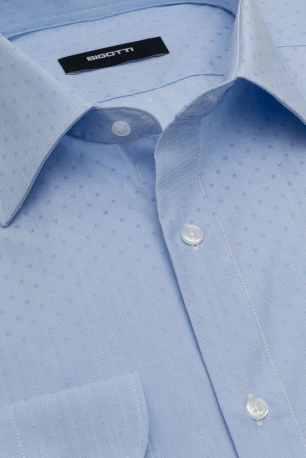 Superslim Light blue Geometric Shirt