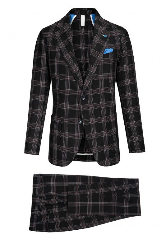 Slim body Black Carouri Suit