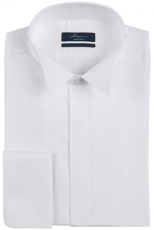 Superslim White Plain Shirt