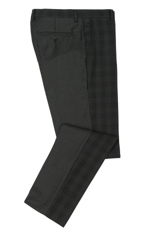 Slim Black Check Trouser