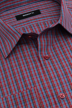 Superslim Red Check Shirt