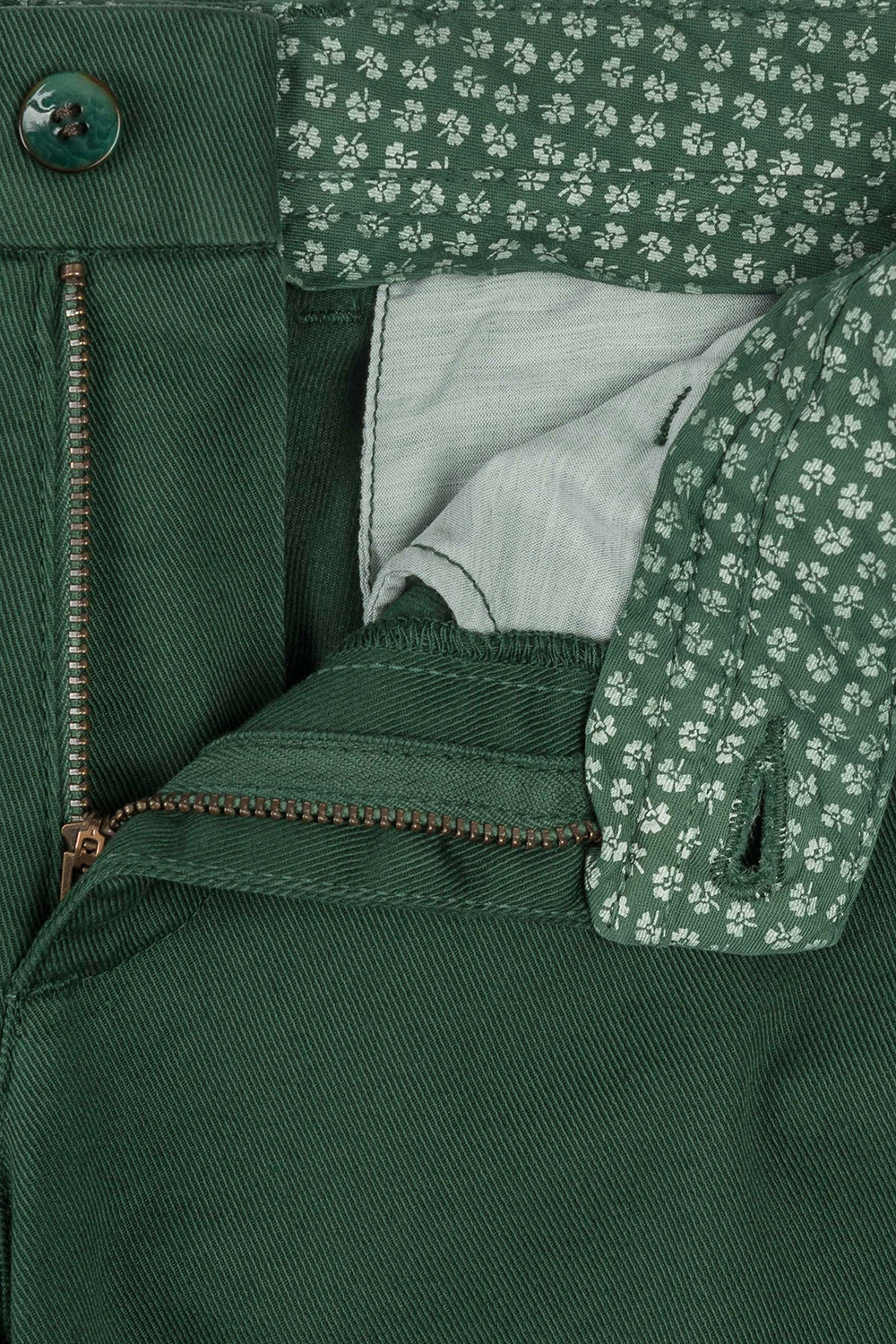 Superslim Green Plain Trouser 2