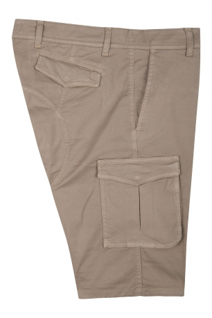 Beige Plain Trouser