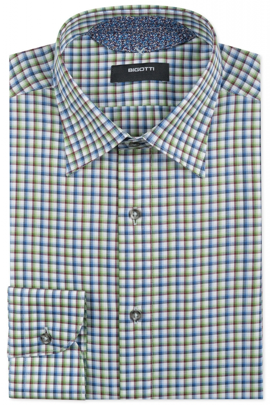 Slim Purple Check Shirt