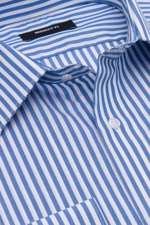 Shaped White Stripe Shirt
