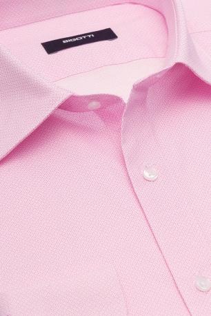 Slim Pink Geometric Shirt